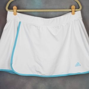 adidas Tennis Skirt White & Blue Athletic Skort